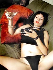 drunk gothic girl